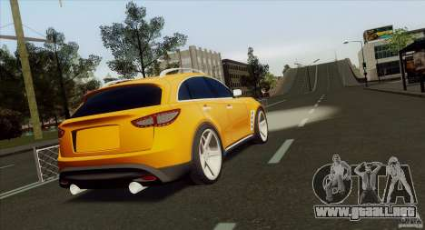 Infiniti FX37 para GTA San Andreas left