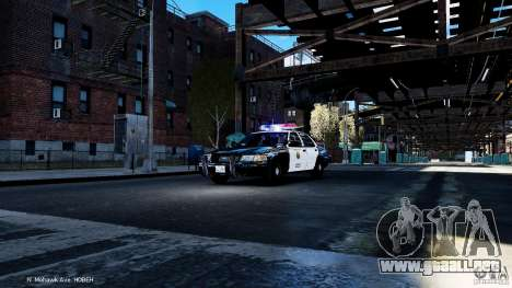 CVPI LCPD San Diego Police Department para GTA 4 vista interior