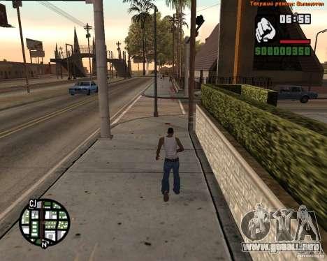 Súper patada para GTA San Andreas segunda pantalla