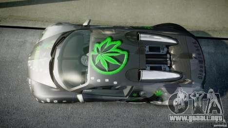Bugatti Veyron 16.4 v1.0 new skin para GTA 4 visión correcta