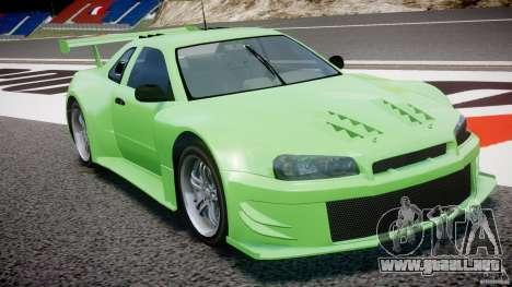 Nissan Skyline R34 v1.0 para GTA 4 vista lateral