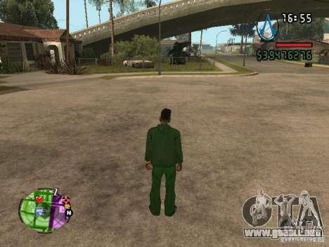 Asssassin Creed Style para GTA San Andreas segunda pantalla