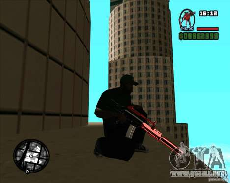 Chrome black red gun pack para GTA San Andreas segunda pantalla