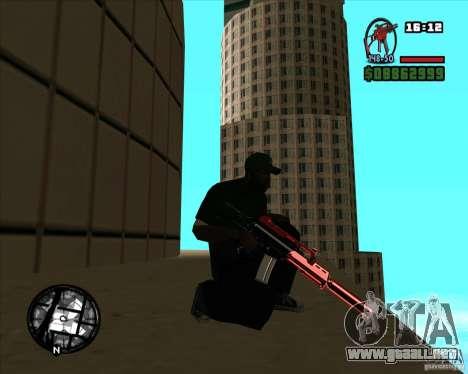 Chrome black red gun pack para GTA San Andreas segunda pantalla