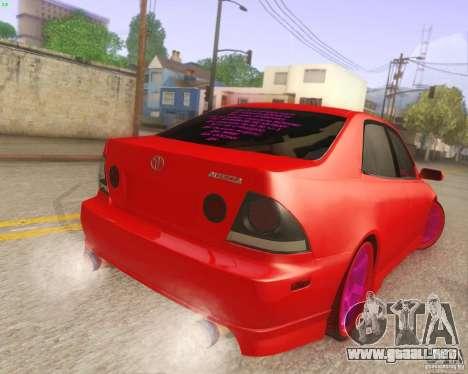 Toyota Altezza Drift Style v4.0 Final para la visión correcta GTA San Andreas