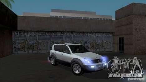 SsangYong Rexton 2005 para las ruedas de GTA San Andreas