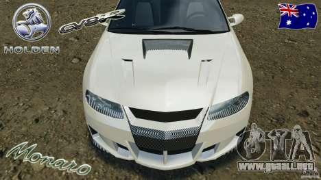 Holden Monaro CV8-R para GTA 4 interior