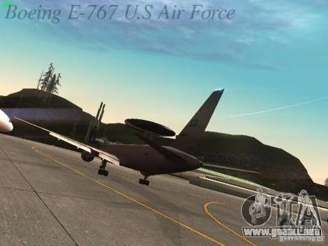 Boeing E-767 U.S Air Force para la visión correcta GTA San Andreas