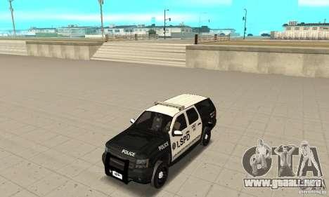 Chevrolet Suburban 2007 LSPD para GTA San Andreas