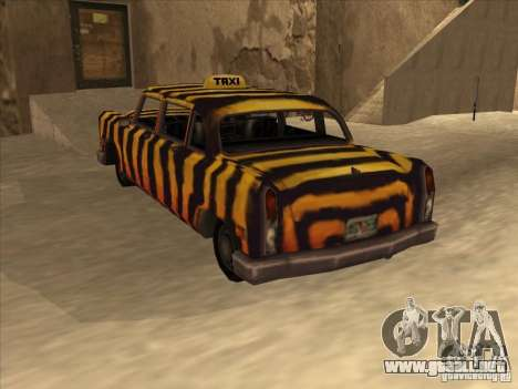 Taxi cebra de Vice City para GTA San Andreas vista hacia atrás
