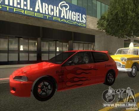 Honda Civic EG6 para la visión correcta GTA San Andreas