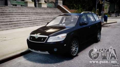Skoda Octavia Scout Unmarked [ELS] para GTA 4 vista interior