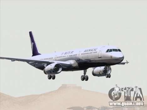 Airbus A321 Air Macau para las ruedas de GTA San Andreas