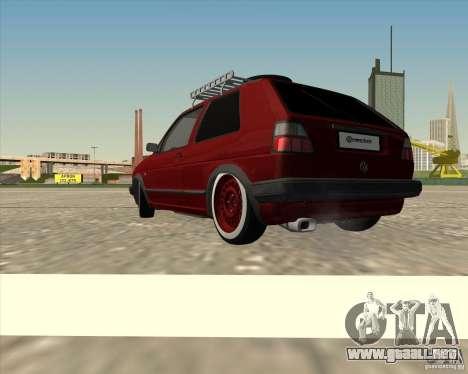VW Golf II Shadow Crew para GTA San Andreas left