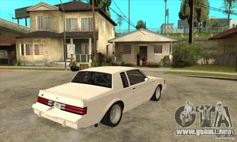 Buick Regal Grand National GNX para la visión correcta GTA San Andreas