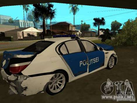 BMW 5-er Police para vista inferior GTA San Andreas