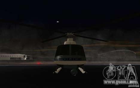 GTA IV Police Maverick para GTA San Andreas left