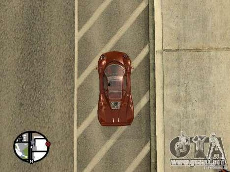 Pagani Zonda F para GTA San Andreas vista posterior izquierda