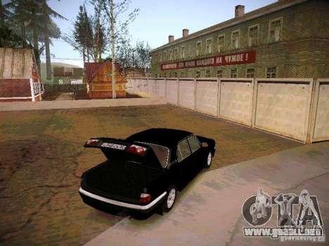 GAZ 31105 Volga S60 para visión interna GTA San Andreas
