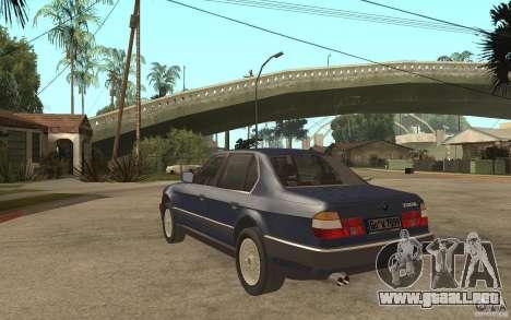 BMW 735Li e32 para GTA San Andreas vista posterior izquierda