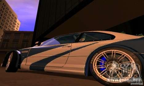 BMW M3 GTR para GTA San Andreas vista posterior izquierda