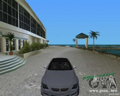 BMW M6 para GTA Vice City left