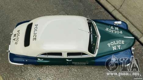Packard Eight Police 1948 para GTA 4 visión correcta