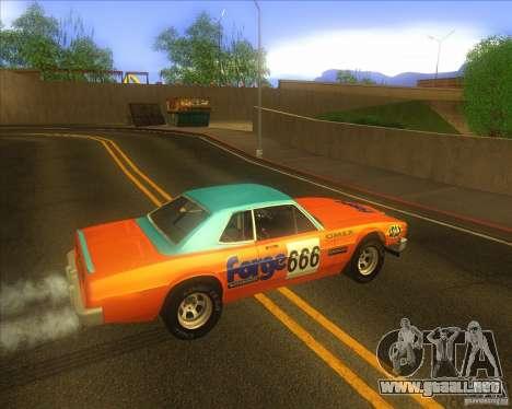 Jupiter Eagleray MK5 para GTA San Andreas vista hacia atrás