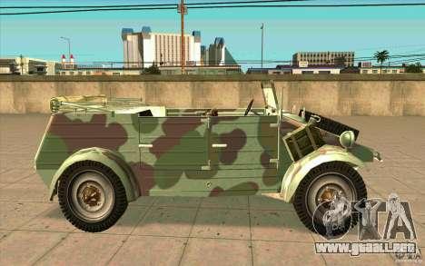 Kuebelwagen para GTA San Andreas left