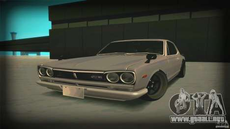 Nissan Skyline 2000GT-R JDM Style para la visión correcta GTA San Andreas
