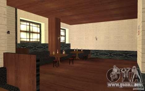Un nuevo bar en Gantone v. 2 para GTA San Andreas sucesivamente de pantalla