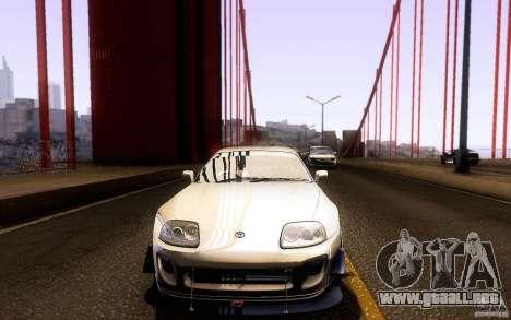 Toyota Supra D1 1998 para vista inferior GTA San Andreas