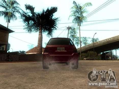 Serrano Stock para GTA San Andreas vista posterior izquierda