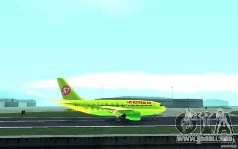 Airbus A310 S7 Airlines para visión interna GTA San Andreas