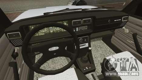 VAZ-2107 Mansory para GTA 4 vista interior