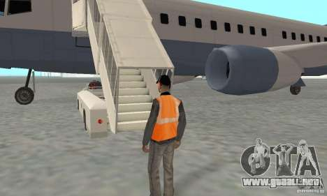 Airport Vehicle para GTA San Andreas octavo de pantalla