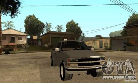 Chevrolet Silverado 1500 para la visión correcta GTA San Andreas