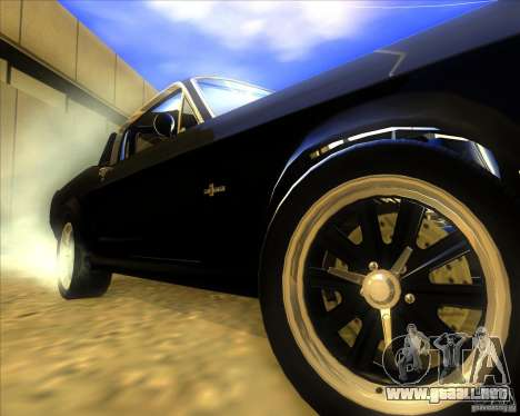Shelby GT500 Eleanora clone para GTA San Andreas vista hacia atrás