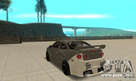 Chevrolet Cobalt SS NFS ProStreet para GTA San Andreas vista posterior izquierda