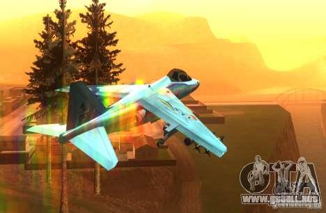 RainbowDash Hydra para GTA San Andreas vista hacia atrás