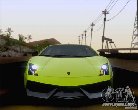 Lamborghini Gallardo LP570-4 Superleggera 2011 para vista lateral GTA San Andreas