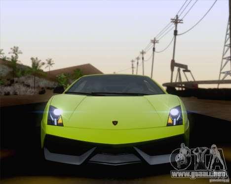 Lamborghini Gallardo LP570-4 Superleggera 2011 para vista lateral GTA San Andreas