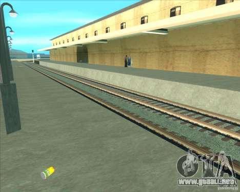 Las plataformas altas en las estaciones de tren para GTA San Andreas séptima pantalla