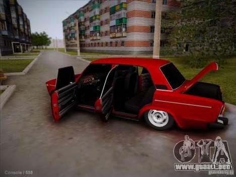 VAZ 2106 Pyatigorsk para visión interna GTA San Andreas