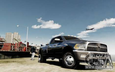 Dodge Ram 3500 Stock Final para GTA 4 vista hacia atrás