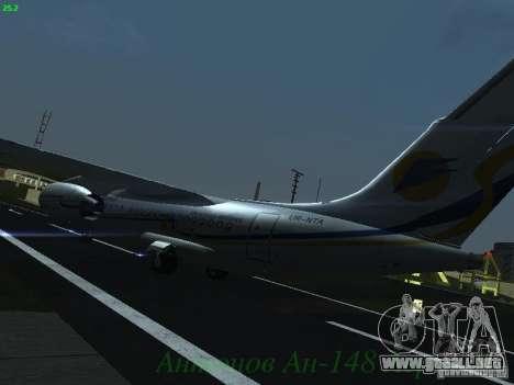 Antonov an-148 Aerosvit Ukrainian Airlines para GTA San Andreas vista hacia atrás