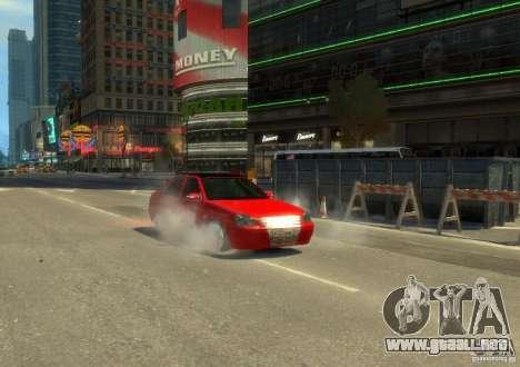 Hatchback LADA priora para GTA 4 Vista posterior izquierda