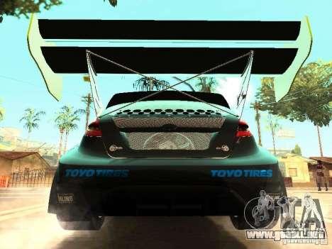 Ford Fiesta Rally Time para visión interna GTA San Andreas