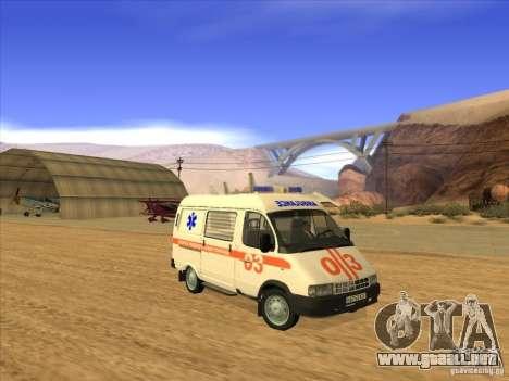 Ambulancia 22172 del GAS para la visión correcta GTA San Andreas