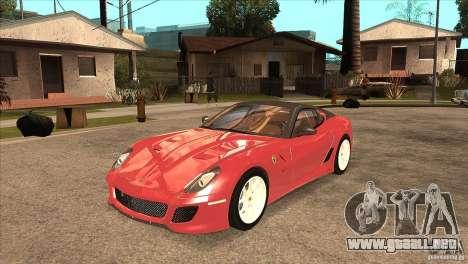 Ferrari 599 GTO 2010 V1.0 para GTA San Andreas